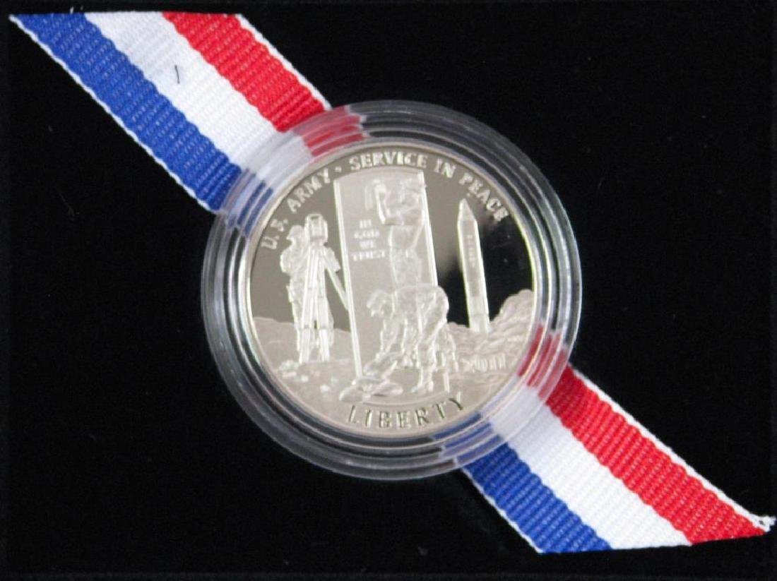 Lot of 2 : U.S. Army Commemorative Proof Coins - Silver - 3