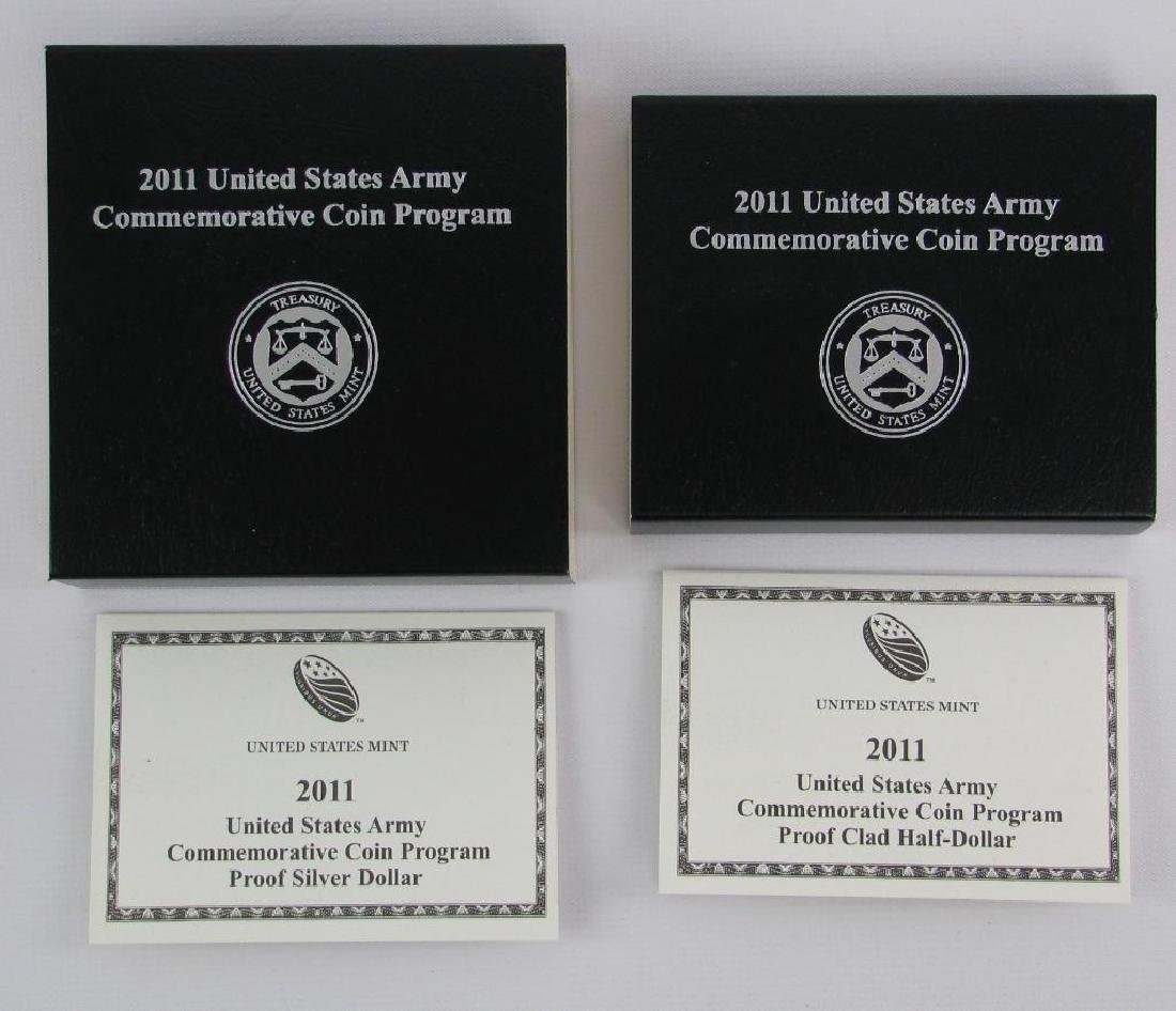 Lot of 2 : U.S. Army Commemorative Proof Coins - Silver - 4