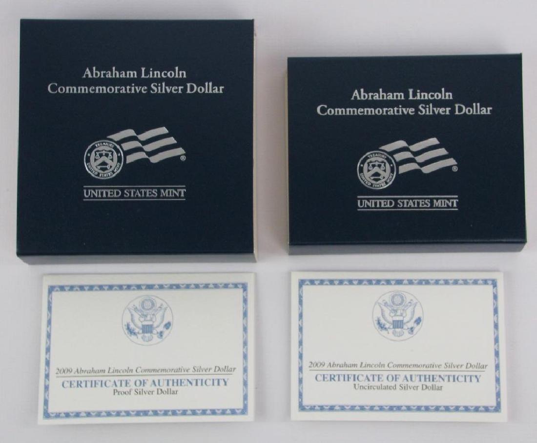 Lot of 2 : 2009-P Lincoln Commemorative Silver Dollars