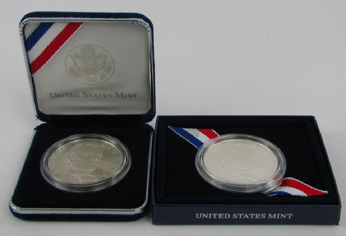 Lot of 2 : 2009-P Lincoln Commemorative Silver Dollars - 2