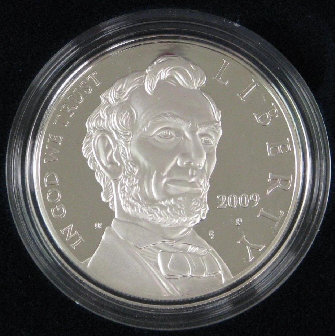 Lot of 2 : 2009-P Lincoln Commemorative Silver Dollars - 3
