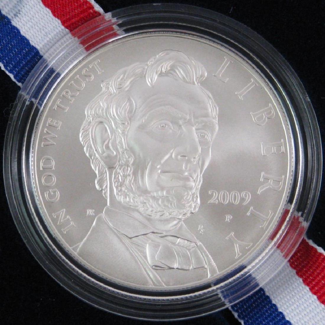 Lot of 2 : 2009-P Lincoln Commemorative Silver Dollars - 4