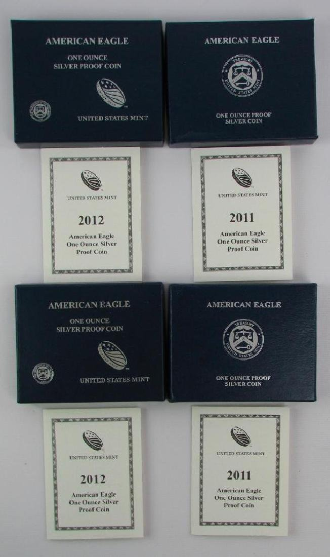Lot of 4 : American Eagle Silver Proof Coins - 3