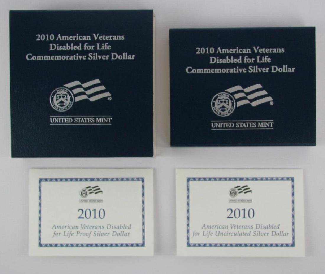 Lot of 2: 2010-W American Disabled Veterans - 2