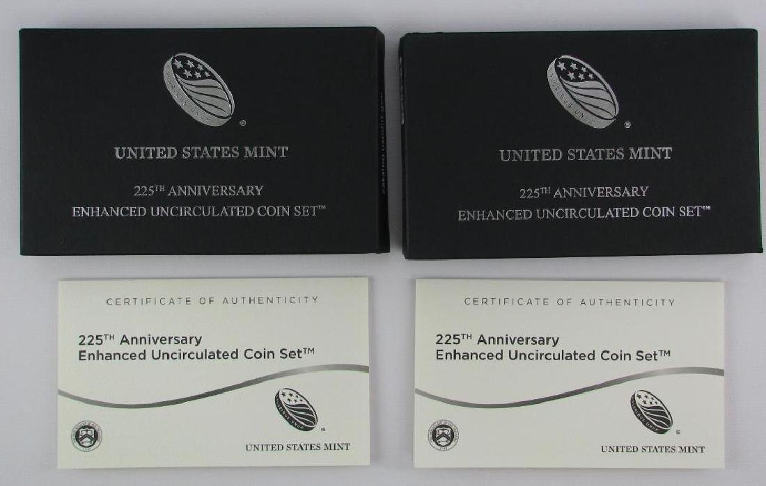 Lot of 2 : 225th Anniversary Enhanced Uncirculated Coin - 2