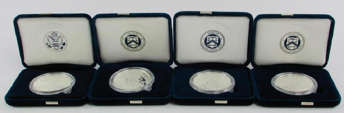 Lot of 4 : American Eagle Silver Proof Coins