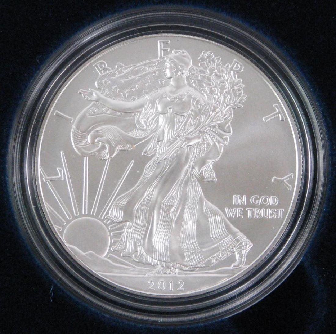 Lot of 2 : 2012-W American Eagle Silver Uncirculated - 2