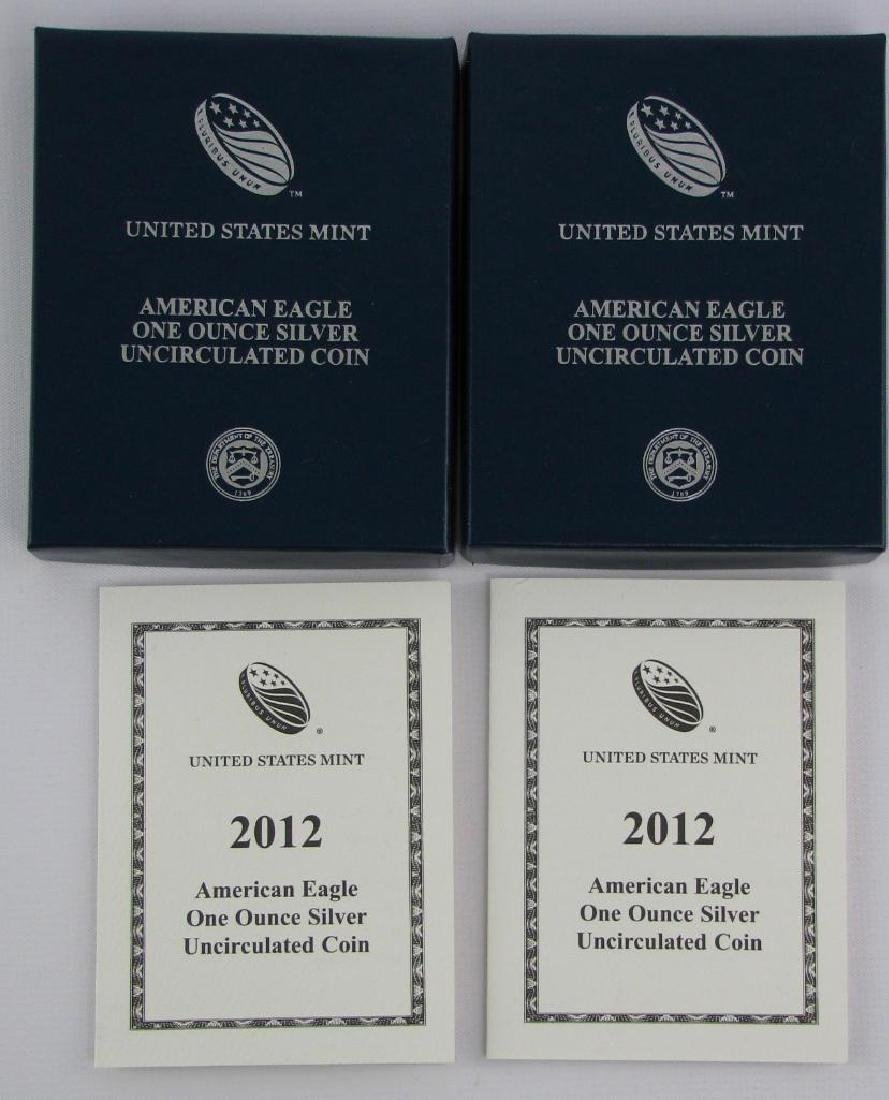 Lot of 2 : 2012-W American Eagle Silver Uncirculated - 3