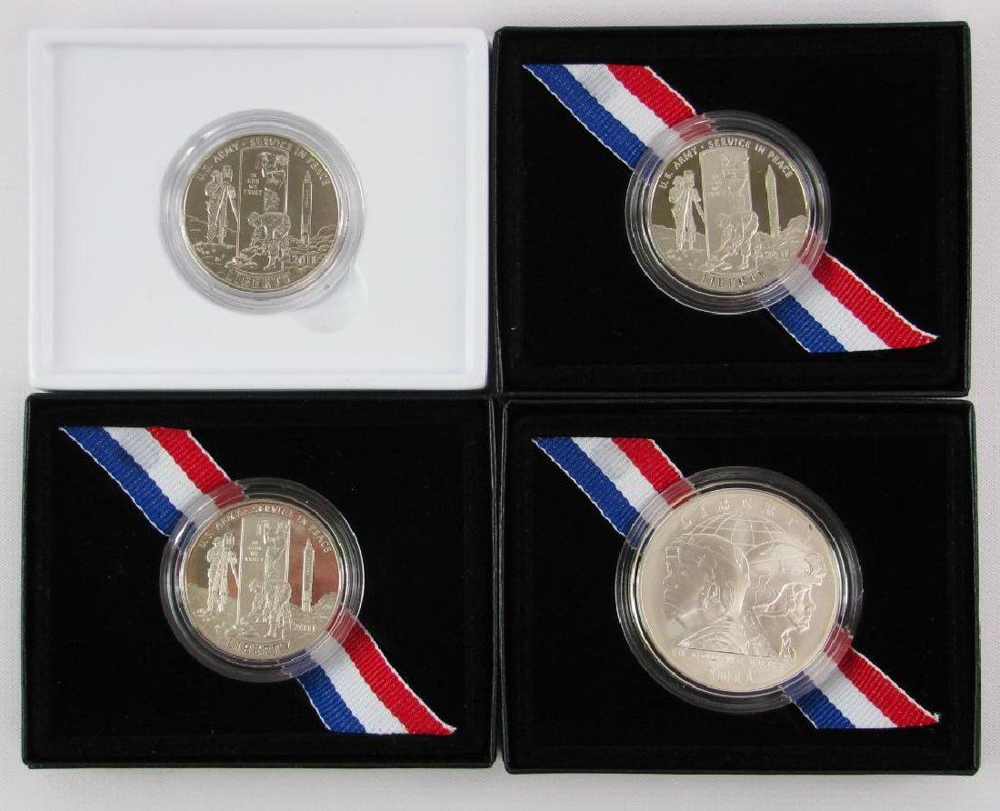 Lot of 4Ê: 2011-S U.S. Army Commemorative Coins