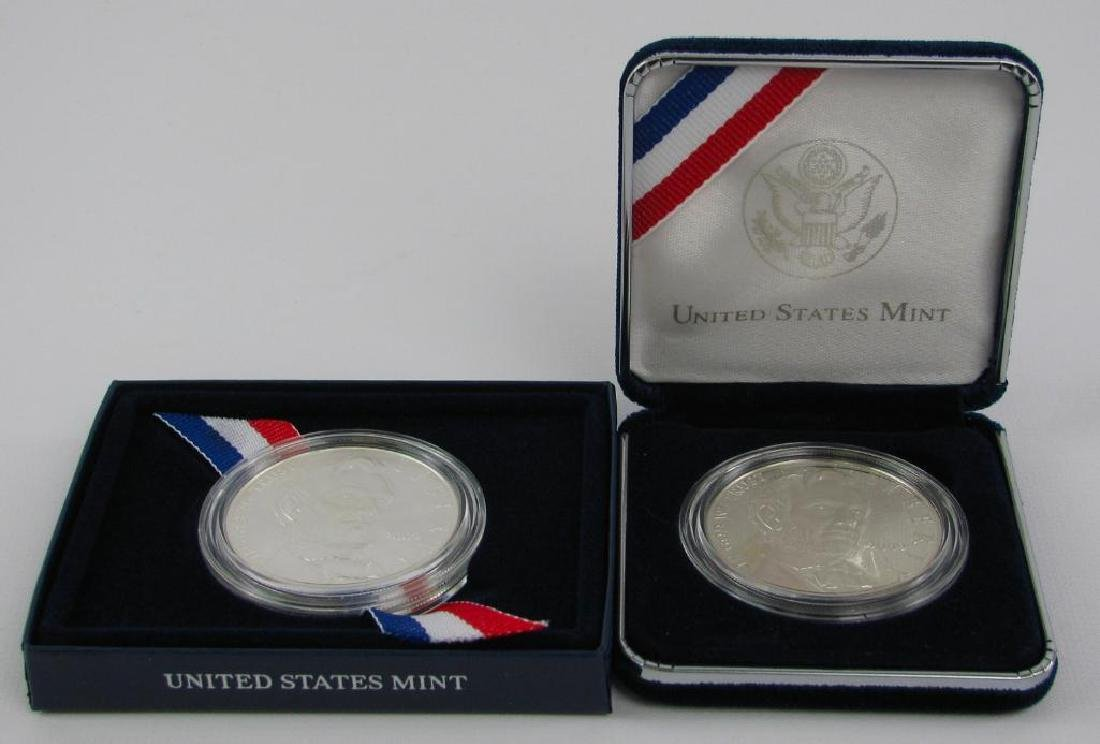 Lot of 2 : Lincoln Commemorative Silver Dollars - 2