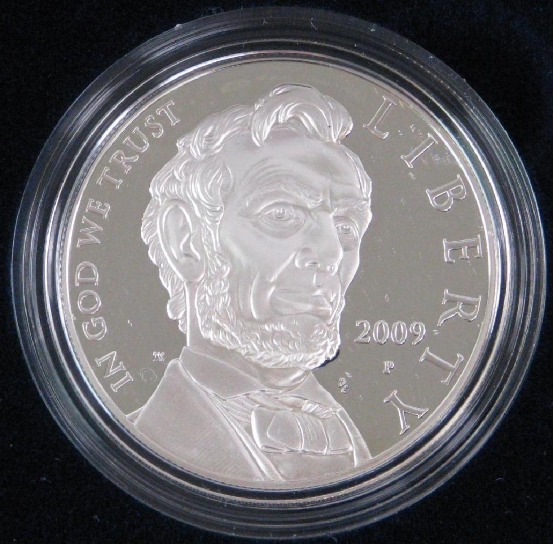 Lot of 2 : Lincoln Commemorative Silver Dollars - 3