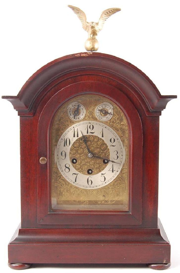 Antique K.C. Co. German Made Mantle Clock with Beveled