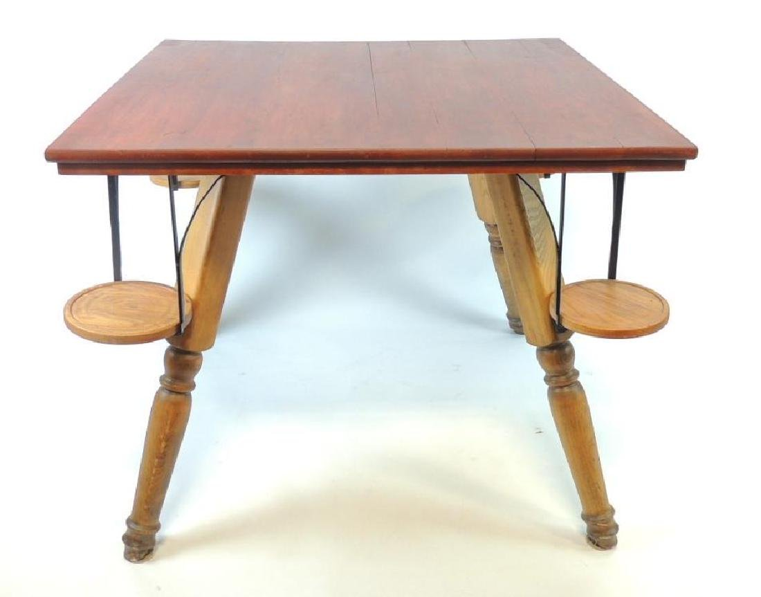 Antique Card Table With Drink Cigar Holders