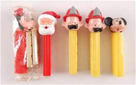 Group of 5 Pez Dispensers Without Feet