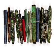 Group of 12 Vintage Fountain Pens, and 1 Mechanical