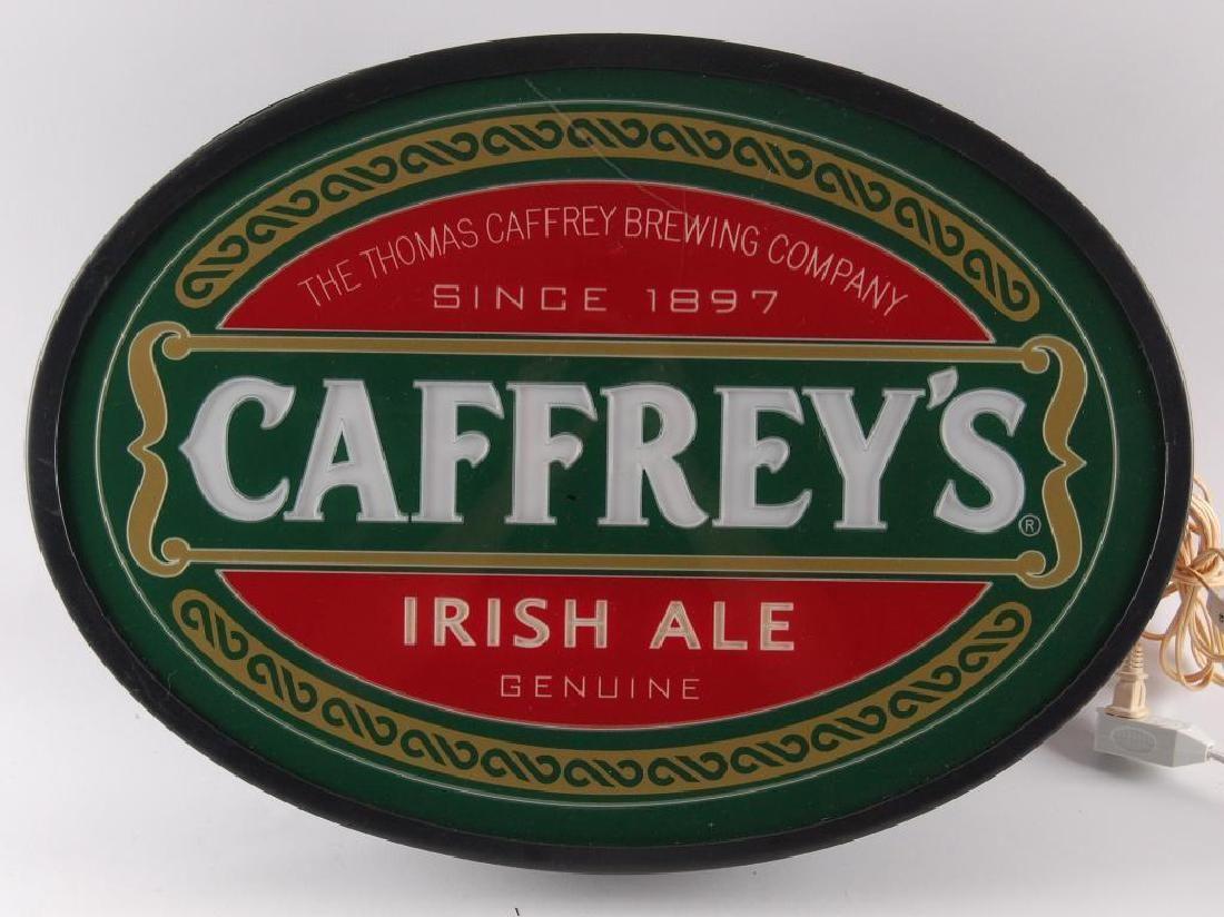 Caffrey's Irish Ale Light Up Advertising Beer Sign