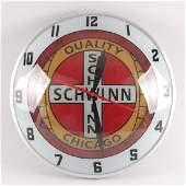 Schwinn Bicycles Chicago Light Up Advertising Clock