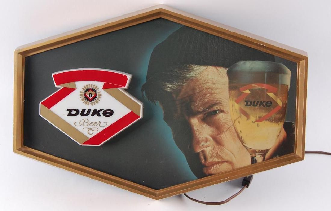 Vintage Duke Light Up Advertising Beer Sign