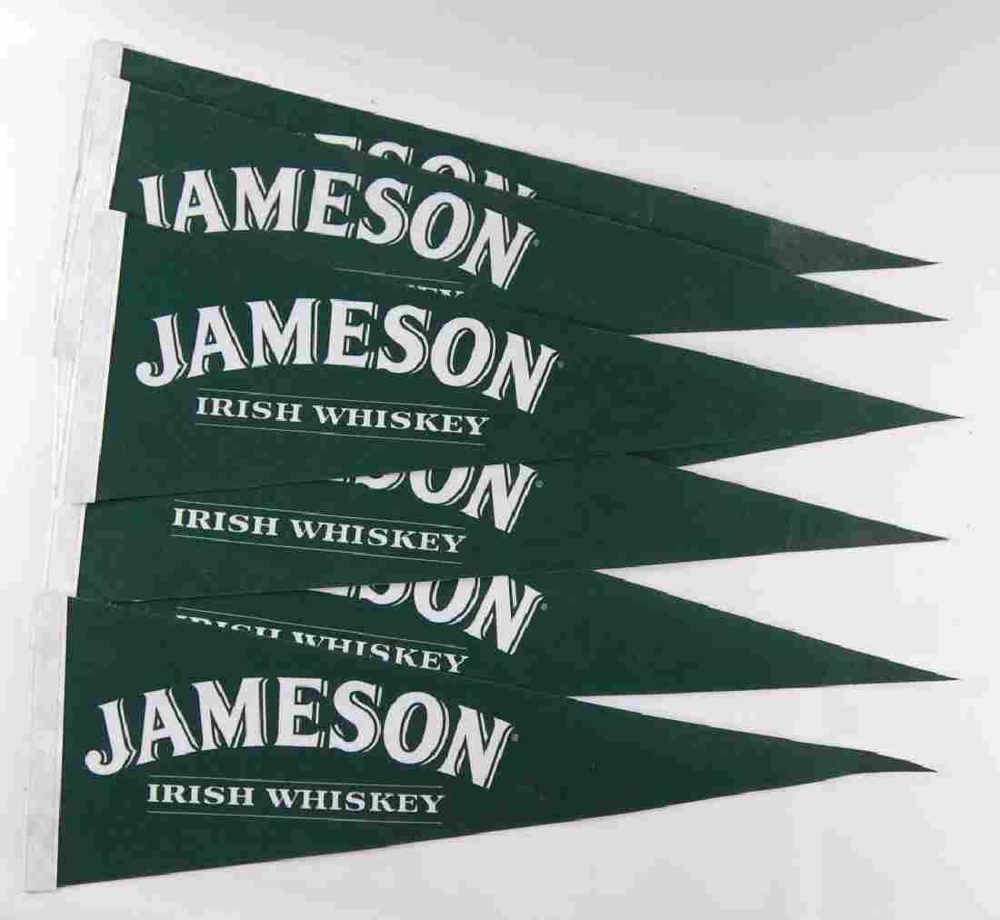 Group of 7 Jameson Irish Whiskey Advertising Pennants