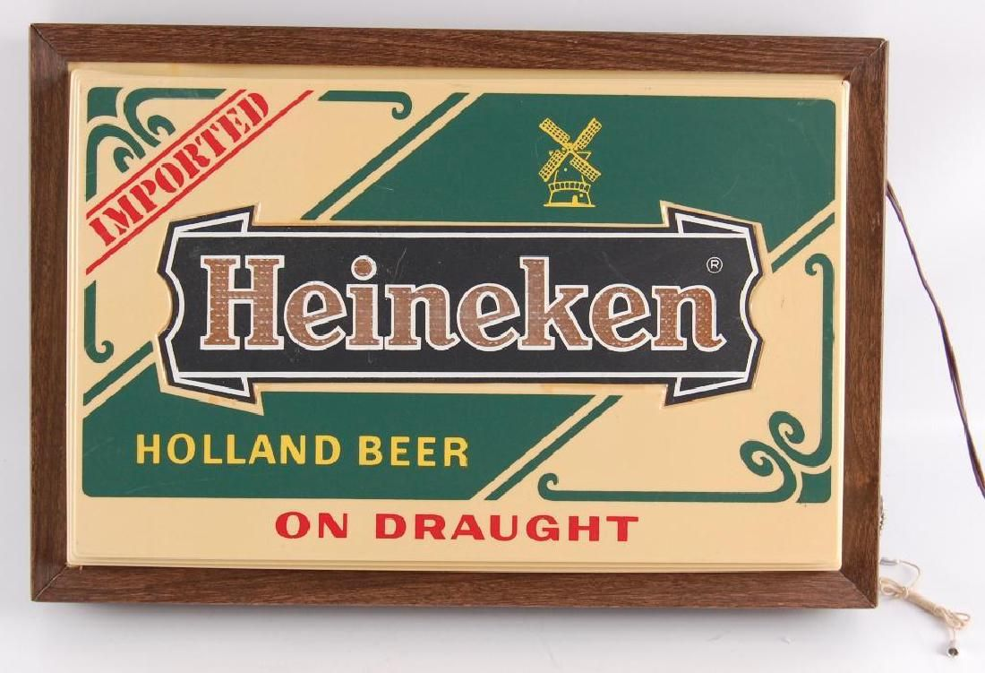 """Vintage Heineken """"Holland Beer"""" Light Up Advertising"""
