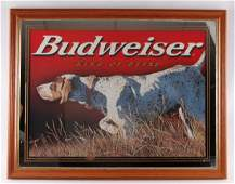 Budweiser Hunting Dog Advertising Beer Mirror