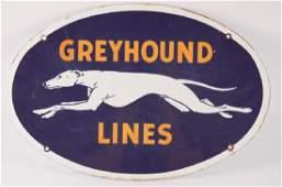 Vintage Greyhound Lines Advertising Porcelain Sign