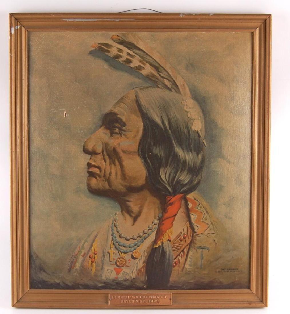 Vintage Blackhawk Brewing Co. Native American Chief