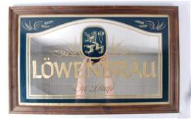 Vintage Lowenbrau On Draft Advertising Beer Mirror