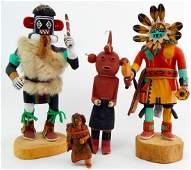 Lot of 4  Hopi Kachina  Some Signed
