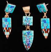 Chester Nez & James Mason Navajo Sterling Silver Micro