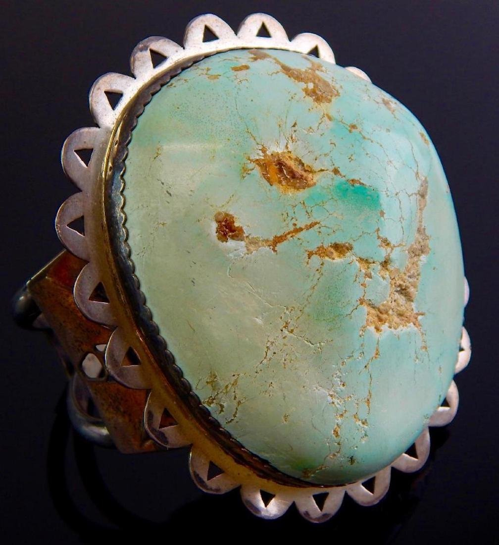 Large Navajo Turquoise & Sterling Silver Cuff Bracelet