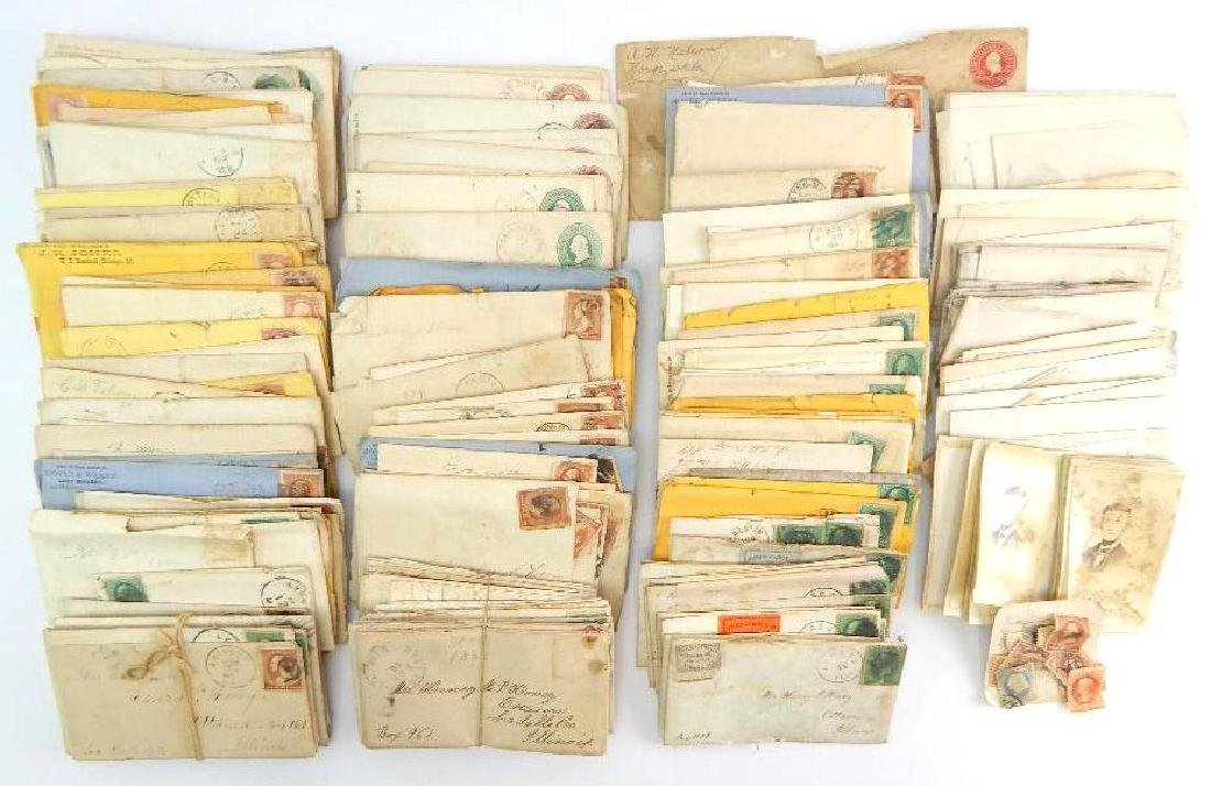 Large Group of 19th Century Letters and Stamps