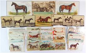 Large group of 19th century Victorian Tradecards
