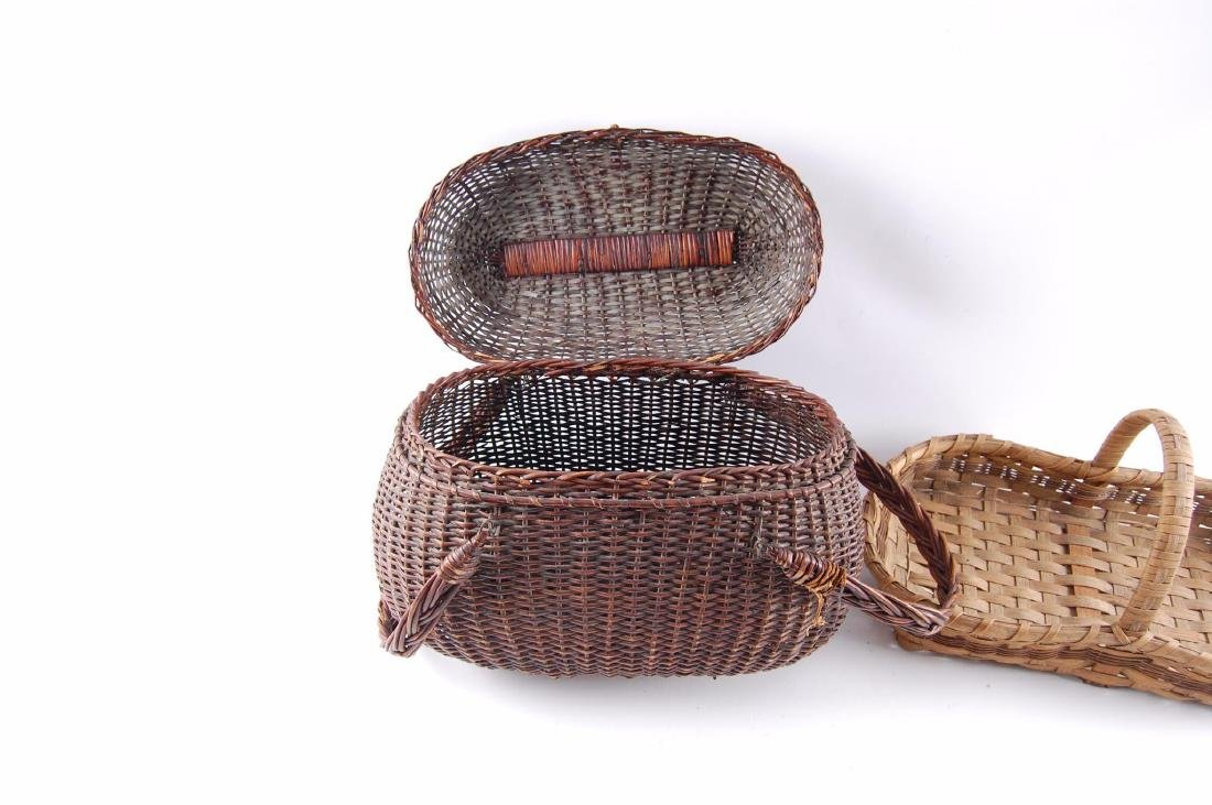 Group of 2 Antique Hand Woven Baskets - 4