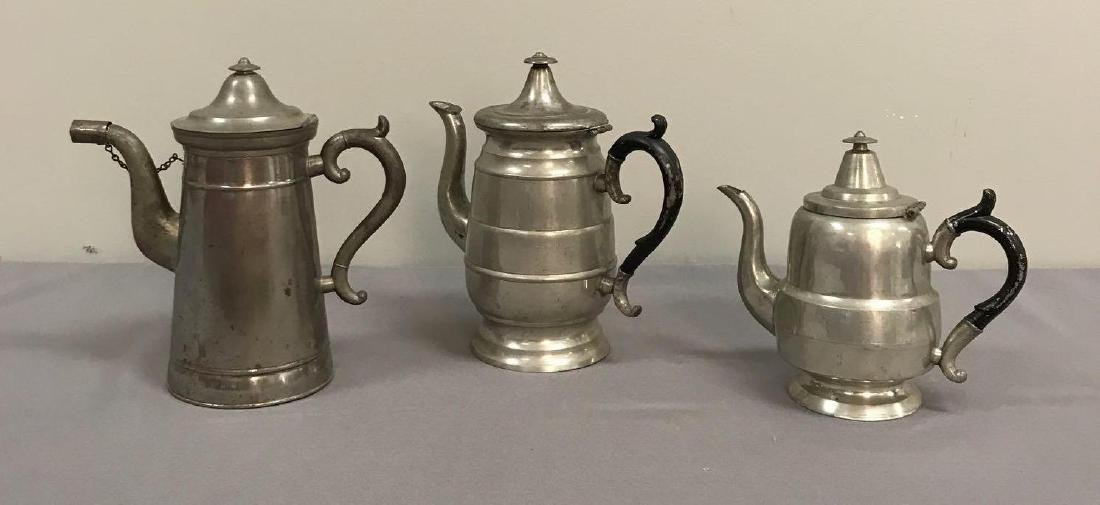 Group of 3 antique coffee pots