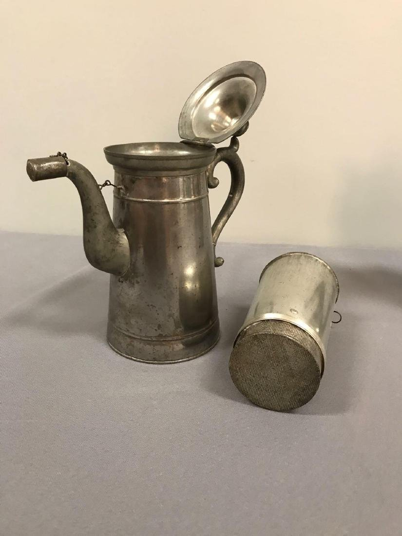 Group of 3 antique coffee pots - 3