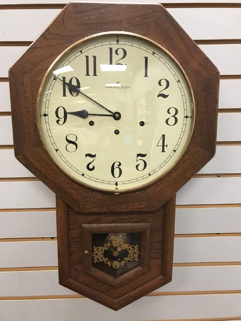 Hamilton Hanging Wall Clock w/Westminster Chimes