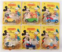 Group of 6 Matchbox Walt Disney Toy Vehicles in