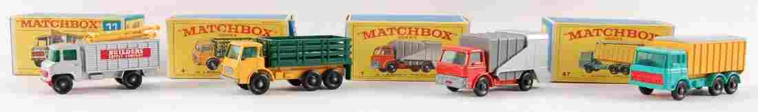 Group of 4 Matchbox Die-Cast Trucks with Original Boxes