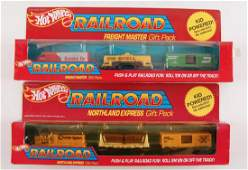 Group of 2 Hot Wheels Railroad Gift Sets in Original