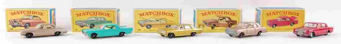 Group of 5 Matchbox Die-Cast Cars with Original Boxes