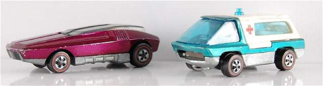 Group of 2 Hot Wheels Redline Die-Cast Cars