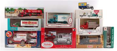 Group of 10 Advertising Die-Cast Delivery Trucks with