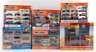 Group of 6 Matchbox and Hot Wheels 10 Car Gift Sets in