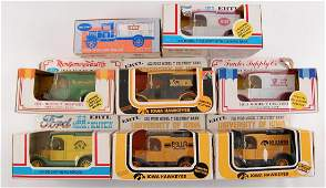 Group of 8 ERTL Die-Cast Delivery Truck Advertising
