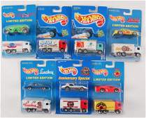 Group of 7 Hot Wheels Limited Edition Advertising