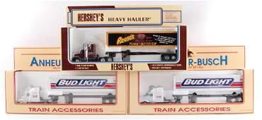 Group of 3 K-Line Advertising Die-Cast Semi Trucks and