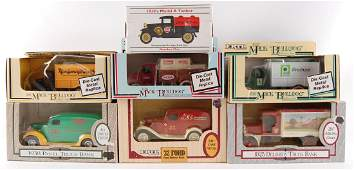 Group of 7 ERTL Die-Cast Delivery Truck Advertising
