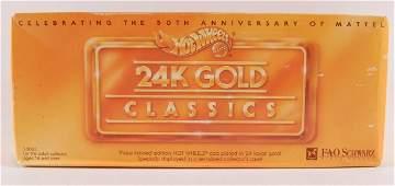 Hot Wheels 24K Gold Classics Fao Schwarz Sealed in