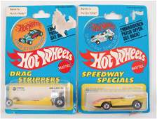 Group of 2 Hot Wheels Drag Strippers Speedway Specials